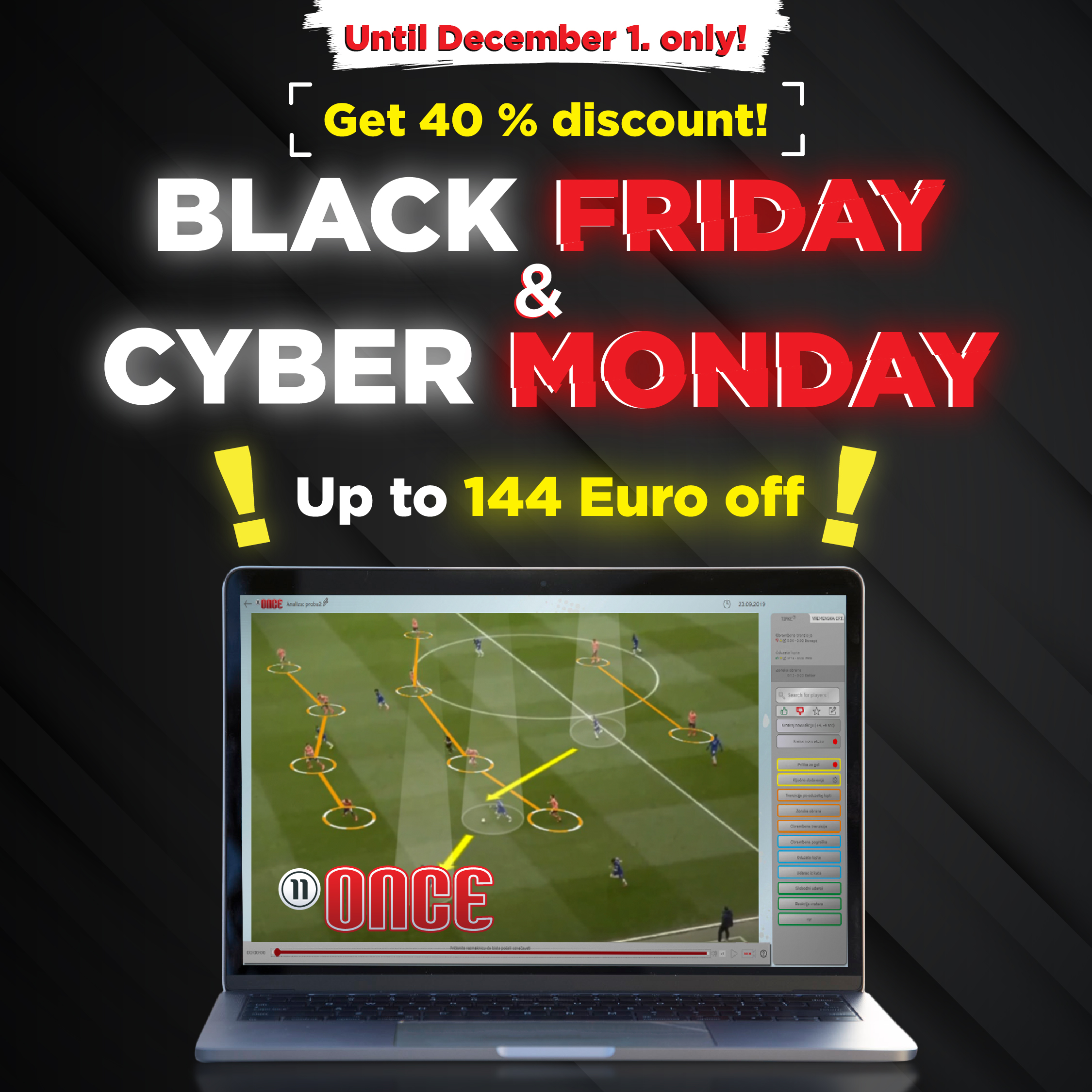 Once Sport Video Analyser Black Friday